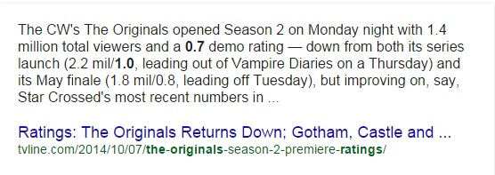 The originals rating