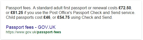 how much does passport cost