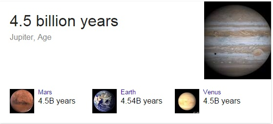 how old is jupiter