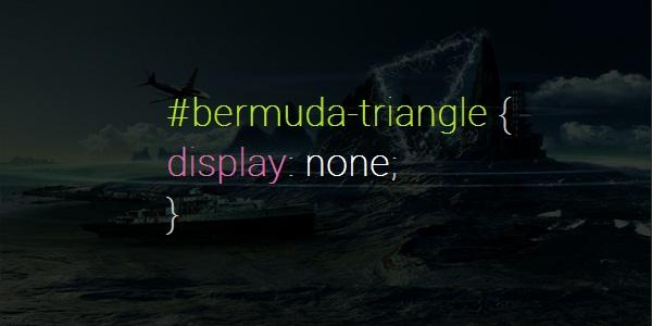 Bermuda Triangle display none