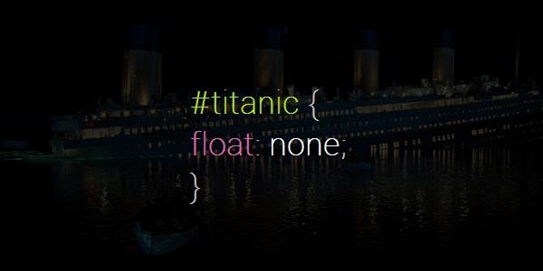 titanic float none
